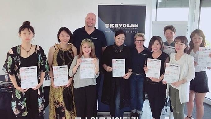 한국메이크업전문가직업교류협회, 독일 크리오란 교육 수료