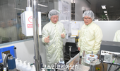 식약처 양진영 차장, 손소독제 제조업체 현장 방문 격려