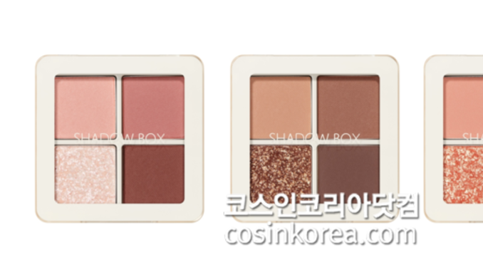 더샘, 꿀조합 아이팔레트 '샘물 섀도우 박스 3종' 출시