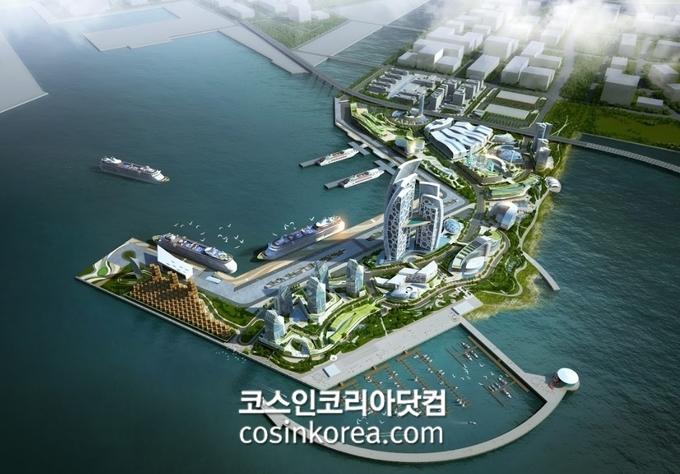 오는 12월 새롭게 오픈 예정인 총 2만 평 규모의 인천항 국제여객터미널
